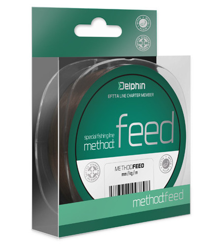 Vlasec Delphin METHOD FEED hnědý 200m 0,16mm 5,3lbs