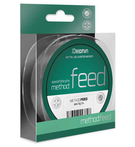Vlasec Delphin METHOD FEED šedý 300m 0,16mm 5,3lbs