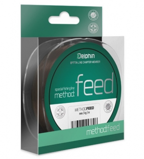Vlasec Delphin METHOD FEED hnědý 200m 0,14mm 4lbs