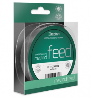 Vlasec Delphin METHOD FEED šedý 300m 0,14mm 4lbs